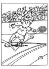 Malvorlage  Tennis