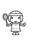 Malvorlage  Tennisspielerin