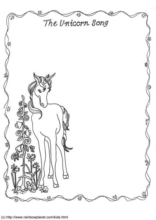 Malvorlage The Unicornsong Einhorn Kostenlose