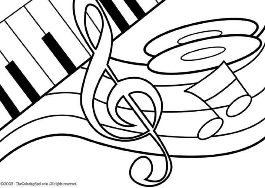 Malvorlage Thema Musik - Kostenlose Ausmalbilder Zum