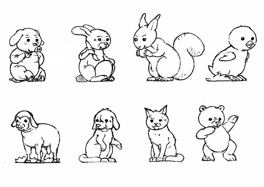 malvorlage tiere  kostenlose ausmalbilder zum ausdrucken