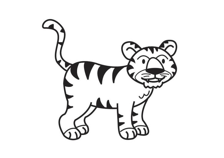 Worksheet. Malvorlage Tiger  Ausmalbild 17818