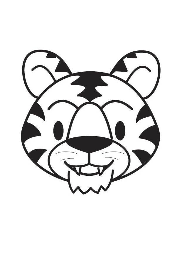 Malvorlage Tigerkopf Ausmalbild 17909