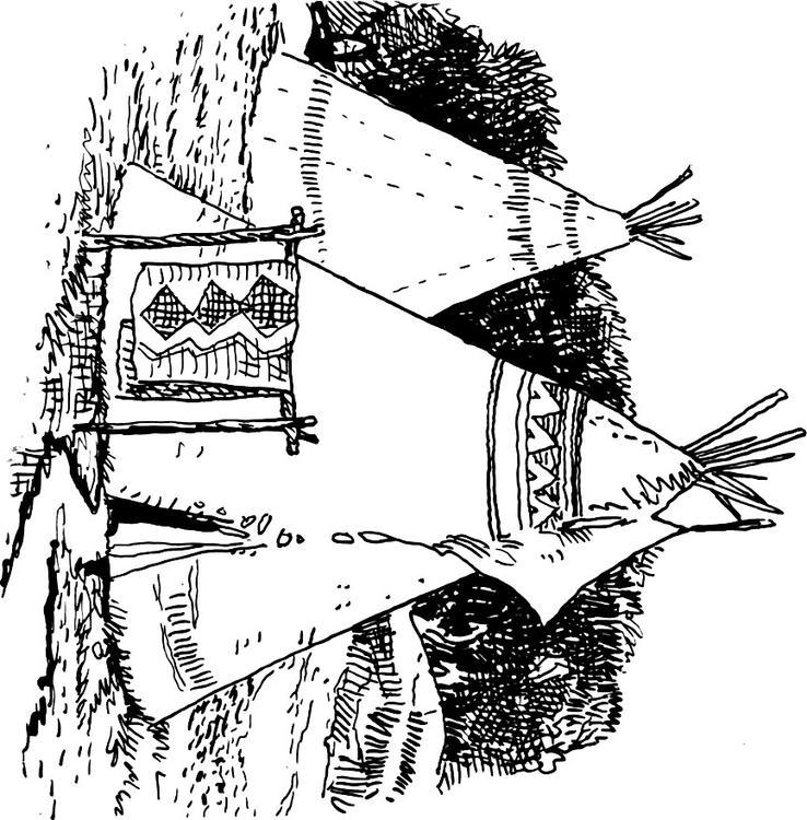 Malvorlage Tipi Ausmalbild 15936