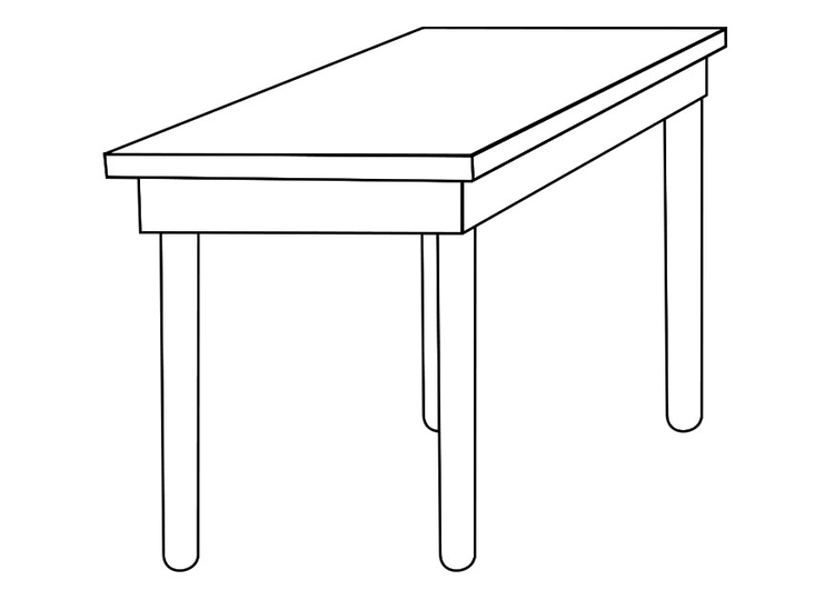 Tisch zeichnung  Malvorlage Tisch | Ausmalbild 19258.