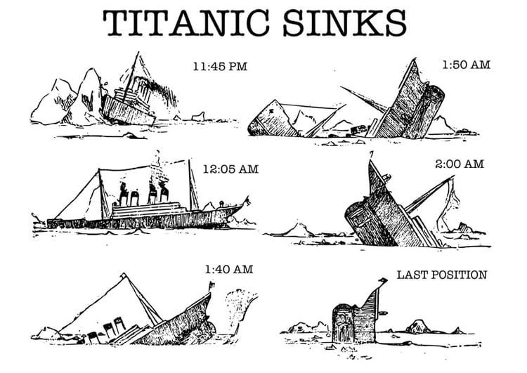 Malvorlage Titanic Ausmalbild 30097