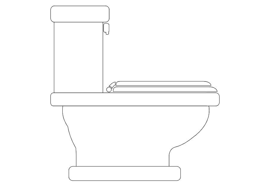 Malvorlage Toilette   Ausmalbild 10091.