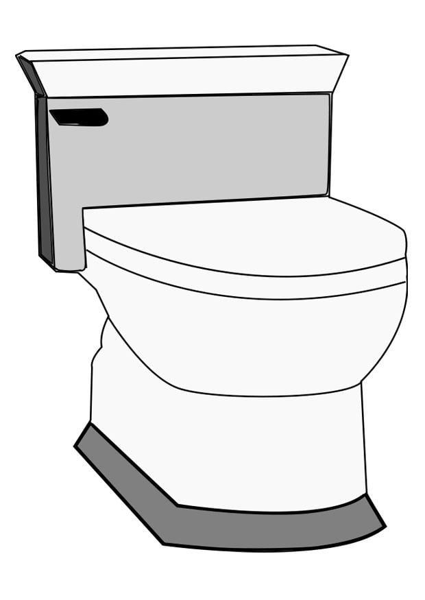 Malvorlage Toilette   Ausmalbild 22811.
