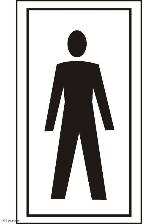 Malvorlage Toilette Herren  Ausmalbild 5428 -> Clipart Banheiro Feminino