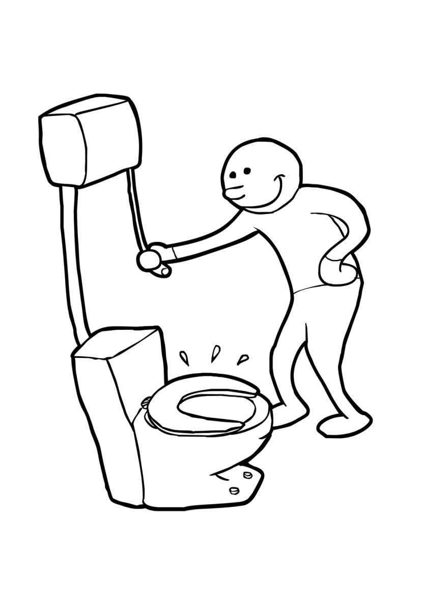 malvorlage toilette sp 252 len kostenlose ausmalbilder zum