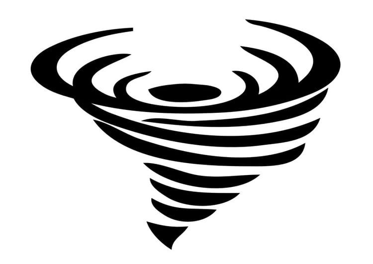 Malvorlage Tornado | Ausmalbild 29235.