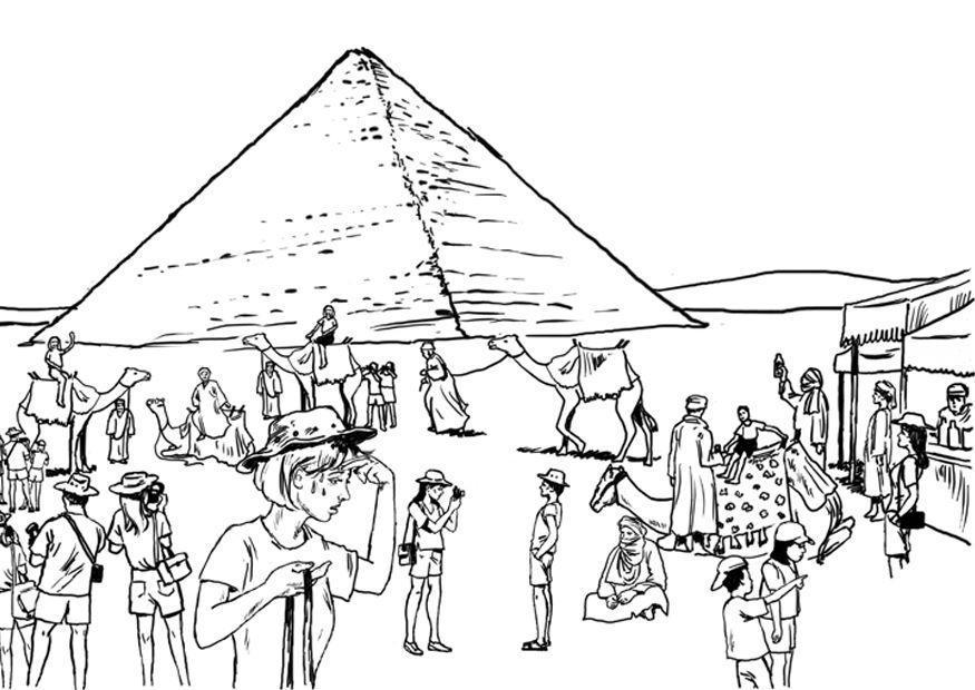 Malvorlage Tourismus - ?gypten | Ausmalbild 8065.