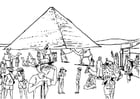 Malvorlage  Tourismus - Ägypten