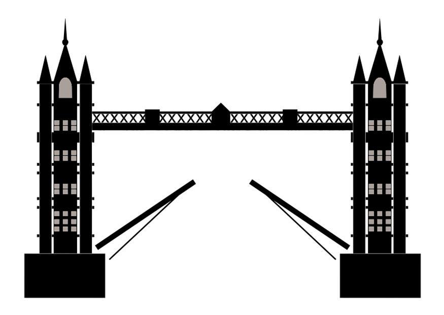malvorlage tower bridge  kostenlose ausmalbilder zum
