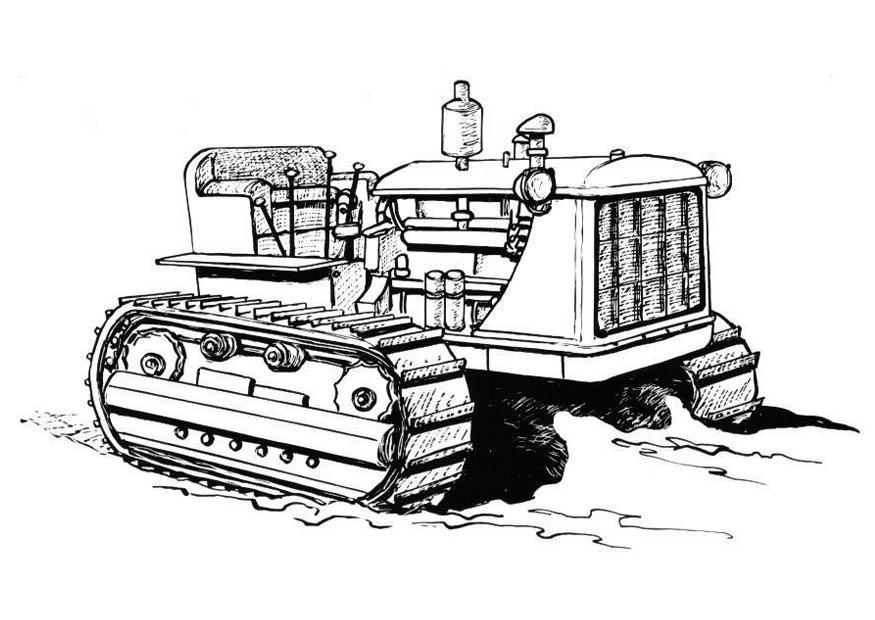 Malvorlage Traktor  Ausmalbild 18986