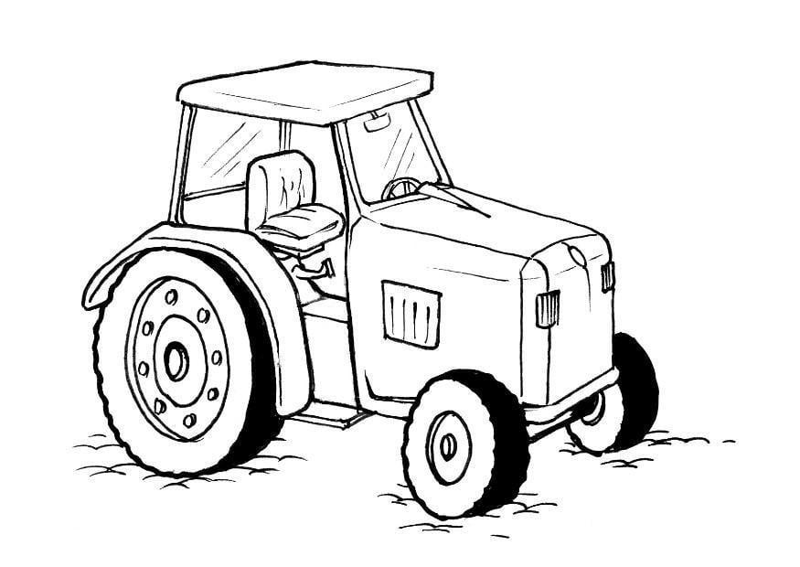 malvorlage traktor  kostenlose ausmalbilder zum ausdrucken
