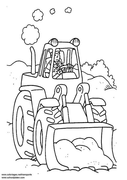 Malvorlage Traktor Ausmalbild 3096