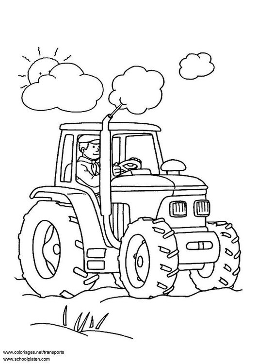 Malvorlage Traktor Ausmalbild 3097