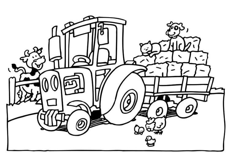 malvorlage traktor - kostenlose ausmalbilder zum ausdrucken.