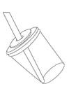 Malvorlage  Trinkbecher mit Strohhalm