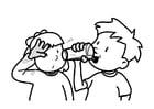 Malvorlage  trinken