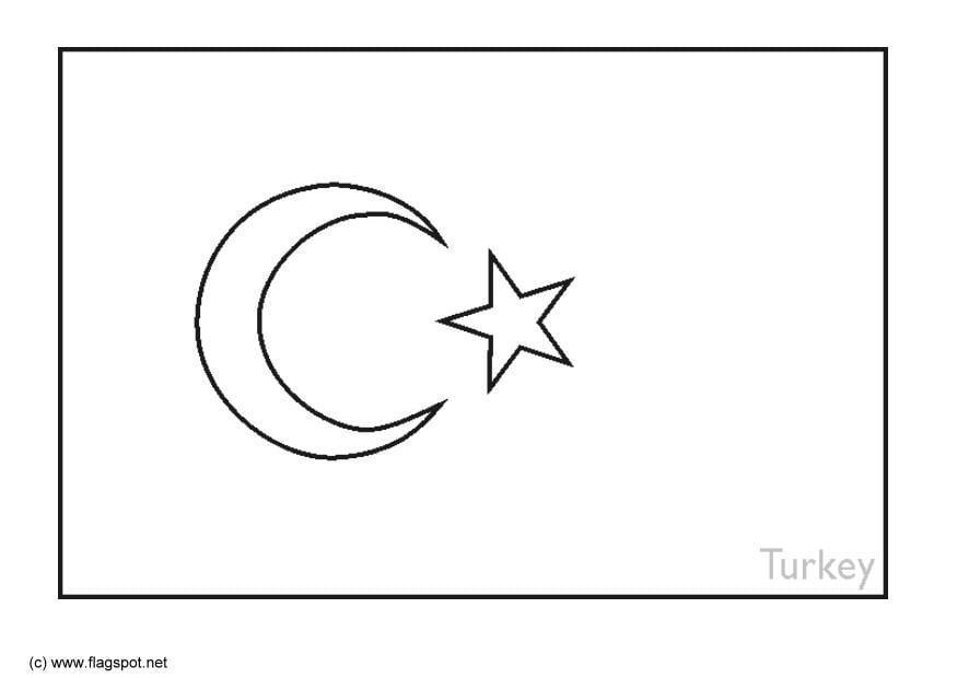 Malvorlage Türkei | Ausmalbild 6387.