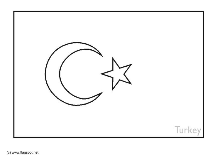 Turkey Country Coloring Pages