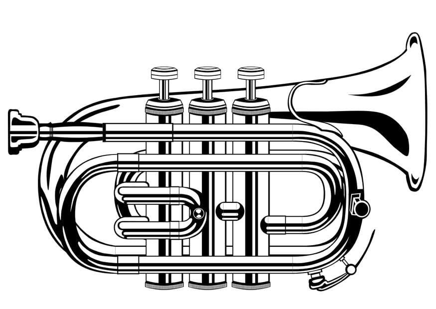 malvorlage trompete  ausmalbild 10015