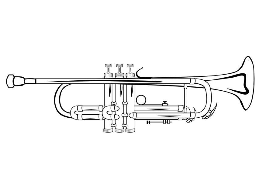 malvorlage trompete  kostenlose ausmalbilder zum