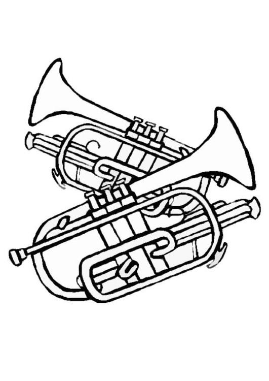 malvorlage trompeten  ausmalbild 8711