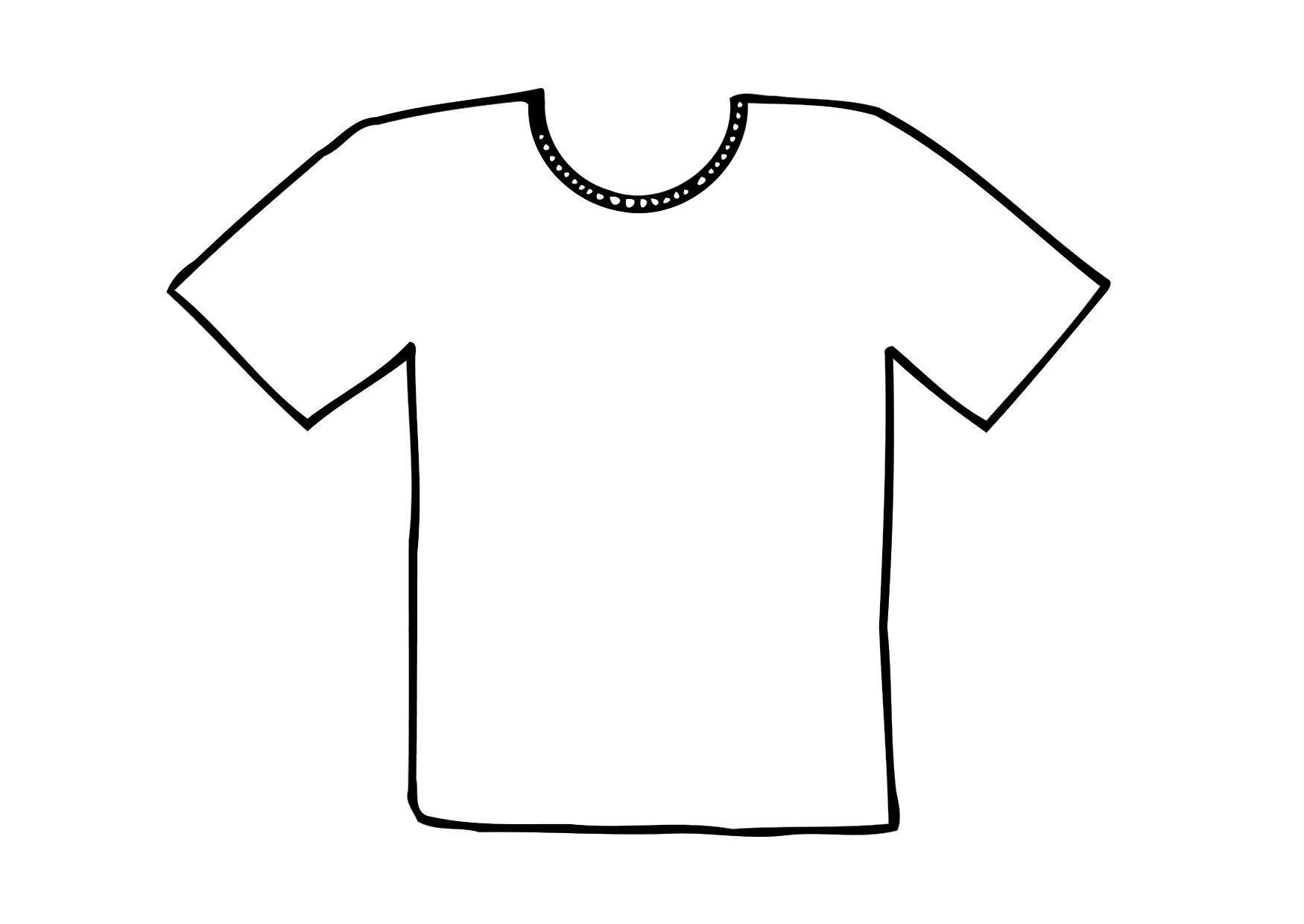 Malvorlage T-Shirt | Ausmalbild 12295.