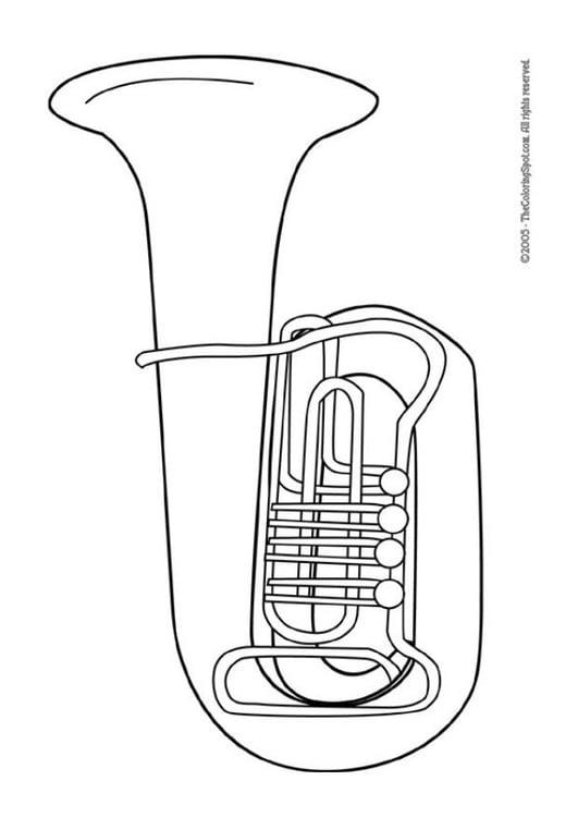 malvorlage tuba  kostenlose ausmalbilder zum ausdrucken