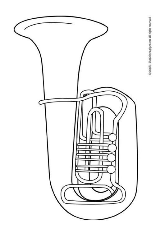 Malvorlage Tuba : Ausmalbild 5958.