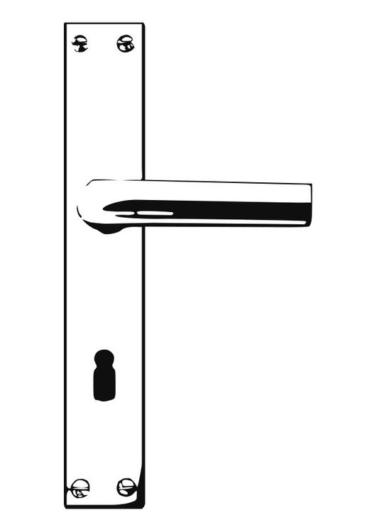 malvorlage t rklinke ausmalbild 25590. Black Bedroom Furniture Sets. Home Design Ideas