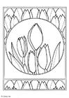 Malvorlage  Tulpen