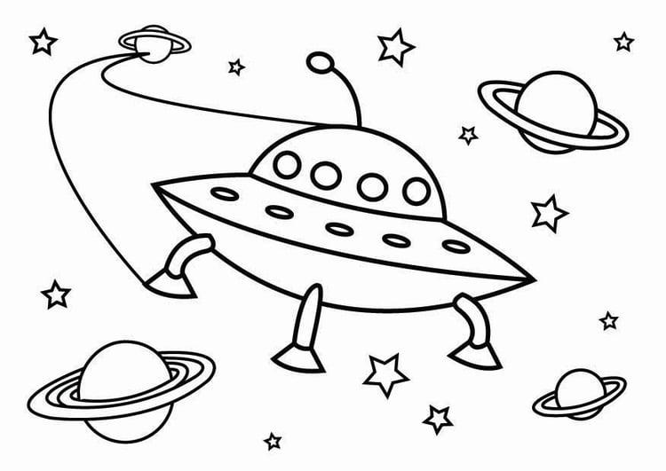 Malvorlage UFO | Ausmalbild 26800.