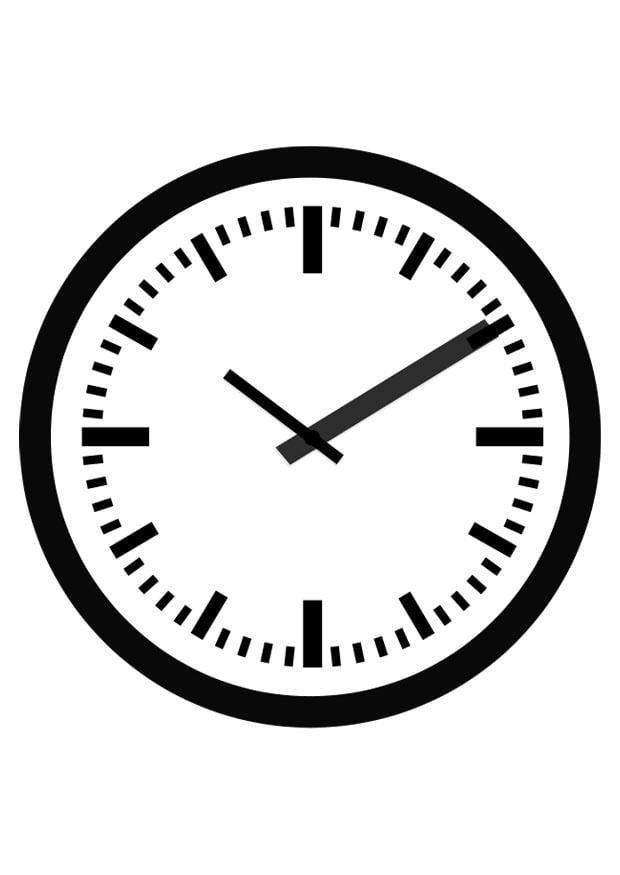 Malvorlage Uhr | Ausmalbild 19692.