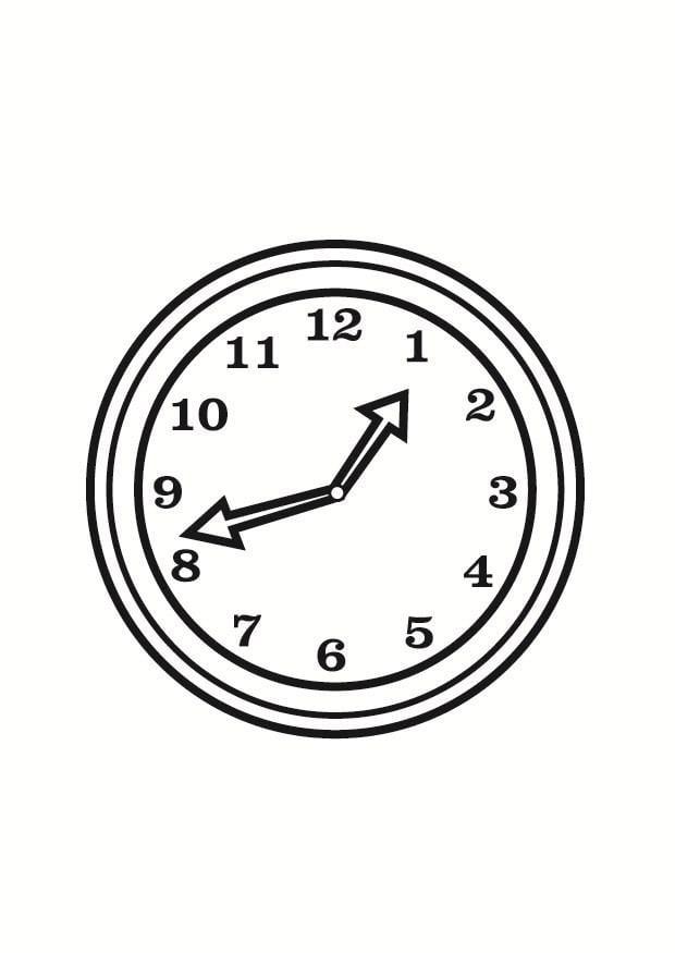 Malvorlage Uhr | Ausmalbild 23360.