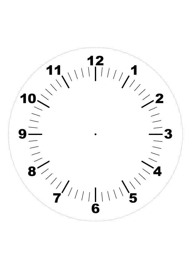 Malvorlage Uhr | Ausmalbild 26370.