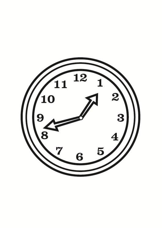 Malvorlage Uhr Ausmalbild 23360