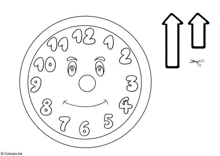 Malvorlage Uhr Ausmalbild 5761