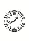 Malvorlage  Uhr
