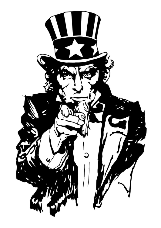 Malvorlage  Uncle Sam