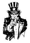 Malvorlage  Uncle Sam
