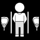 Malvorlage  urinieren