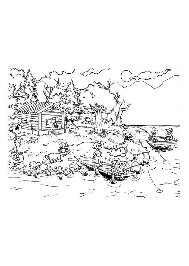 Malvorlage Urlaub am Meer | Ausmalbild 10780.