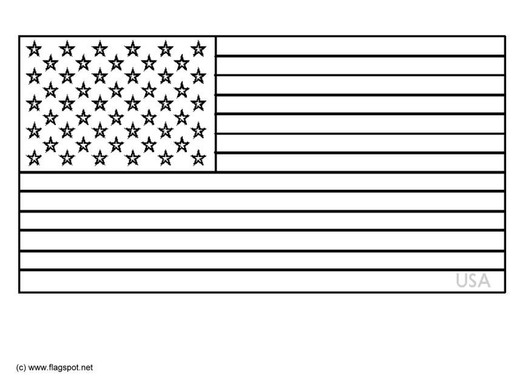 Malvorlage USA | Ausmalbild 6342.
