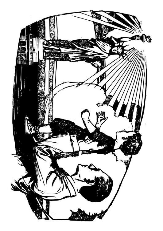 Malvorlage USA - Freiheitsstatue   Ausmalbild 28088.