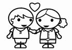 Malvorlage  Valentin verliebt