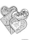 Malvorlage  Valentinherzen